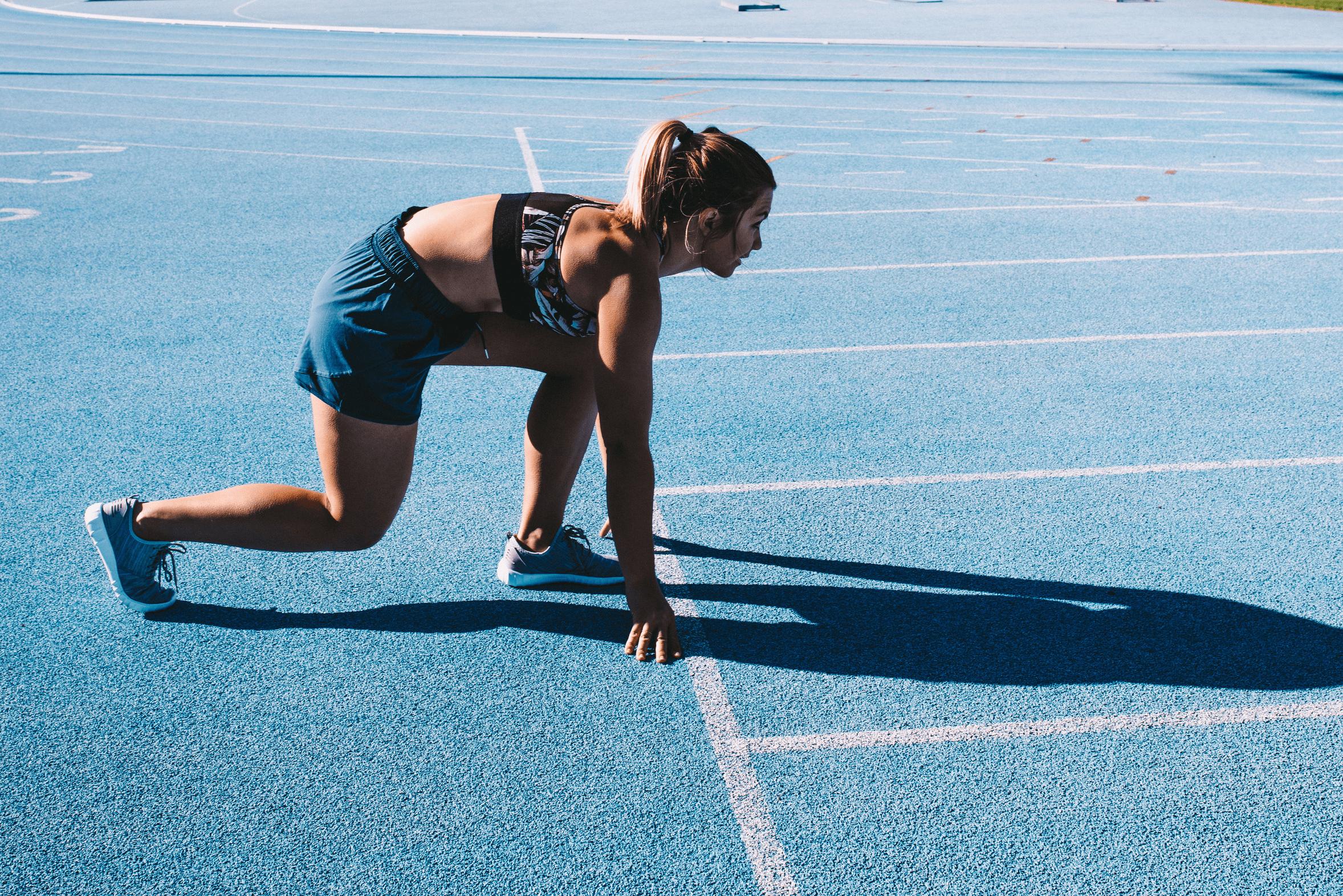 Läuferin als Beispiel für Motivation